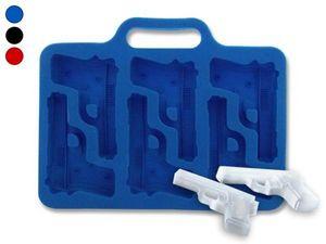 WHITE LABEL - moule à glacons revolvers bleu ou gateau chocolat  - Eisschale