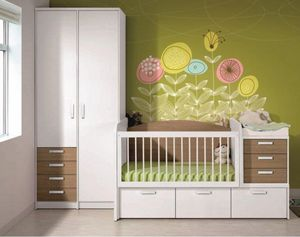 WHITE LABEL - chambre bébé évolutive en chambre d'enfant konala - Kinderbett