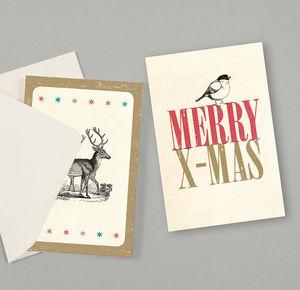 SUSI WINTER CARDS - merry little x-mas - Weihnachtskarte