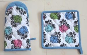 ITI  - Indian Textile Innovation - rose flower - Ofenhandschuh