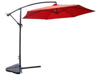WHITE LABEL - parasol déporté terracotta 3 m - farniente - l 300 - Ampelschirm