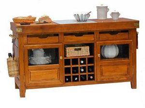 Maison Strosser - bahut billot central - Küchenunterschrank