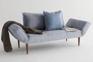 WHITE LABEL - innovation living canape lit design zeal gris gran - Klappsofa