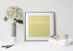la Magie dans l'Image - print art lotus petit jaune blanc - Poster