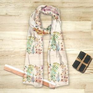 la Magie dans l'Image - foulard feuilles - Vierecktuch