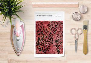 la Magie dans l'Image - papier transfert plantes rouges - Verlegung