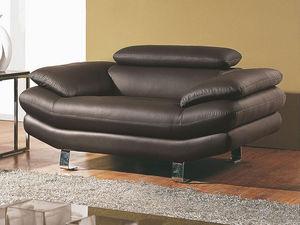WHITE LABEL - fauteuil en cuir carlton - Sessel