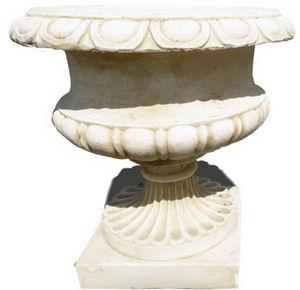 DECO GRANIT - pot jardin rond en pierre reconstituée - Ziervase