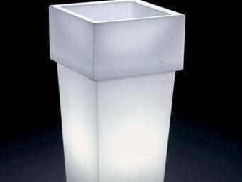 Lyxo by Veca - cache-pot gemini quadrato outdoor - Leuchtblumentopf