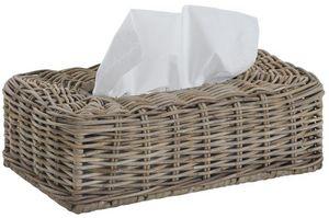 Aubry-Gaspard - boite à mouchoirs ancienne en rotin - Papiertaschentuch Behälter
