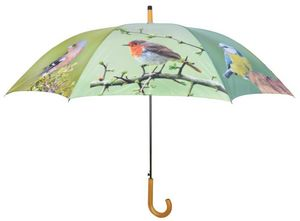 Esschert Design - parapluie oiseaux métal et bois - Regenschirm