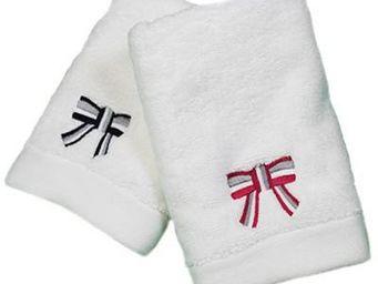 Liou - serviette invité brodée so chic - Gästehandtuch