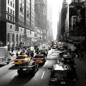 Nouvelles Images - affiche sunset on broadway new york - Plakat