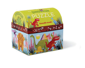 BERTOY - 24 pc mini double fun dinosaur - Kinderpuzzle