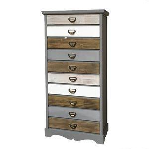 CHEMIN DE CAMPAGNE - meuble bahut semainier à tiroirs bois 128 cm - Chiffonier (kommode)
