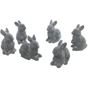 CHEMIN DE CAMPAGNE - statues sculptures famille de lapins en ciment - Gartenschmuck
