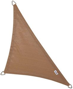 jardindeco - voile d'ombrage triangulaire coolfit sable 4 x 4  - Schattentuch