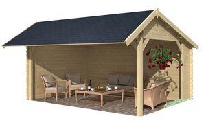 jardindeco - auvent en bois buzet - Holz Gartenhaus