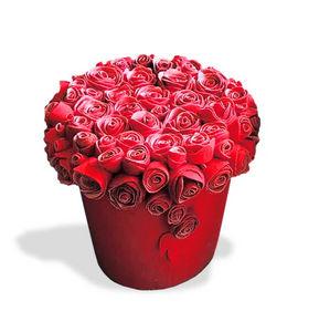 13 RiCrea - pouf bouquet muchas rosas - Andere Schemel Und Beinauflage