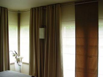 PIETRO SEMINELLI - panneaux abaca pli /rideaux/applique - Stoffpaneel