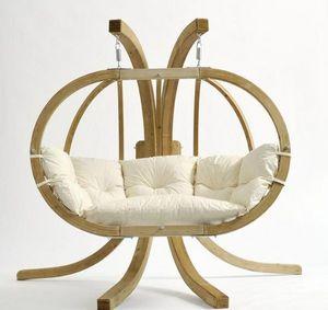 Cannock Gates - globo royal pod hanging wooden sphere chair - Gartensofa
