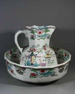 EARLE D VANDEKAR OF KNIGHTSBRIDGE - a mason's ironstone jug and basin - Karaffe