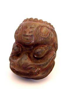Aurélie DoYe - chinese mask in wood - Maske