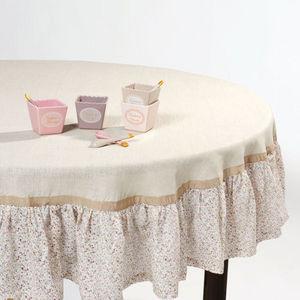 MAISONS DU MONDE - nappe belladona volant - Runde Tischdecke