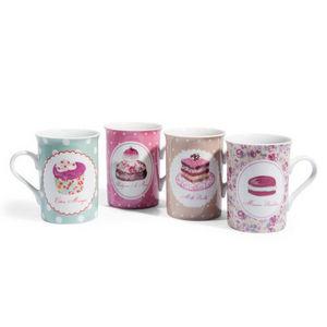 Maisons du monde - assortiment de 8 mugs cupcake - Mug