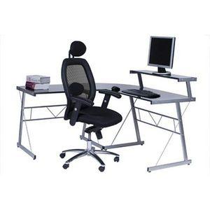 KOKOON DESIGN - bureau d'angle informatique design nero - Schreibtisch