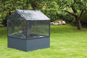 Growcamp - potager de jardin surélevé de 50cm avec serre 120x - Mini Treibhaus