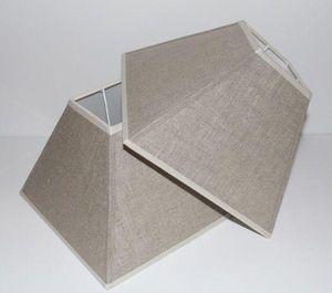 L'ATELIER DES ABAT-JOUR - pyramide en lin - Viereckiger Lampenschirm