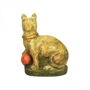 Demeure et Jardin - chat terre cuite - Tierskulptur