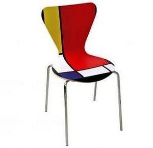 Mathi Design - chaise mondrian d'expo - Stuhl