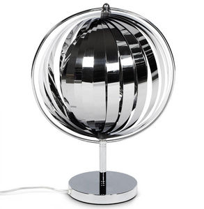 Alterego-Design - luna small chrome - Tischlampen