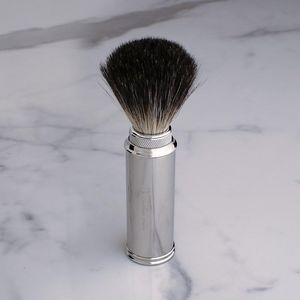 GENTLEMAN LONDON - travel shaving brush nickel - Rasierpinsel