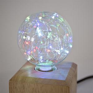 NEXEL EDITION - fantaisie globe bleu - Led Lampe