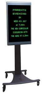Brackenbury Electronics - mobile lcd signs - Tragbarer Lcd Bildschirm