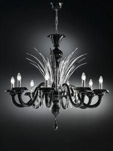 Gabbiani - la certosa 8 luci ø 105 h 90 - Kronleuchter Murano