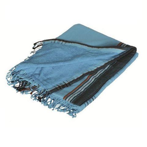 Cosyforyou - Hüfttuch-Cosyforyou-Paréo-serviette bleu île/noir