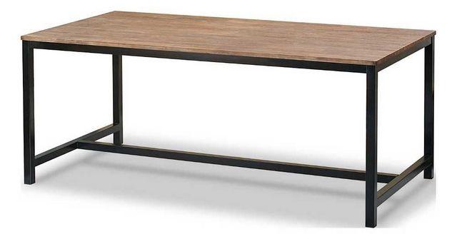 MOOVIIN - Gartenkonsole-MOOVIIN-Table repas acacia et métal Inwood