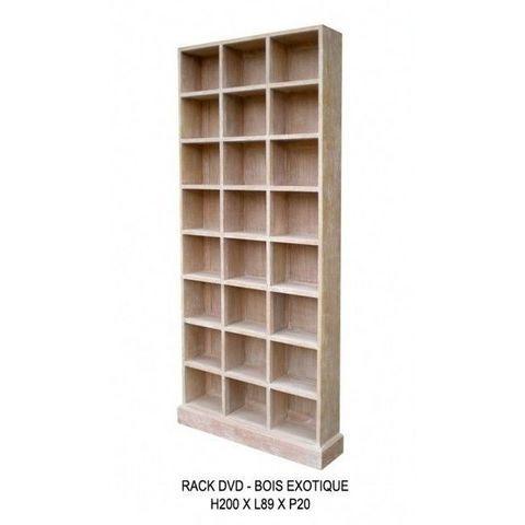 DECO PRIVE - CD-Möbel-DECO PRIVE-Meuble range DVD en bois ceruse