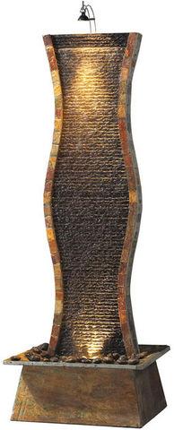 Cactose - Zimmerbrunnen-Cactose-Fontaine elle en pierre de schiste 63x53x175cm