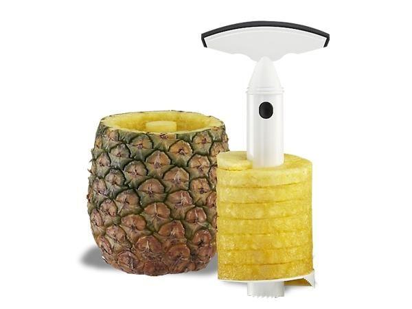 WHITE LABEL - Ananasschneider-WHITE LABEL-La découpe ananas facile deco maison ustensile cui