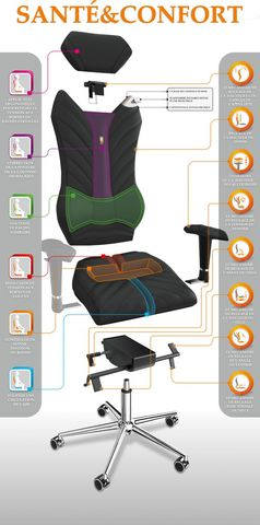KULIK SYSTEM - Ergonomischer Stuhl-KULIK SYSTEM-Galaxy