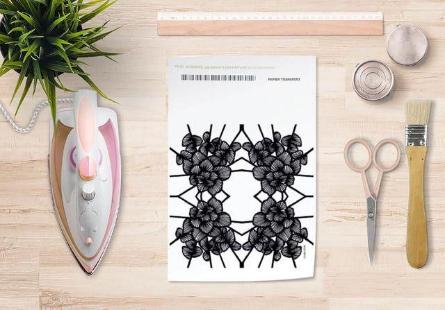 la Magie dans l'Image - Verlegung-la Magie dans l'Image-Papier transfert Graphic Flowers White