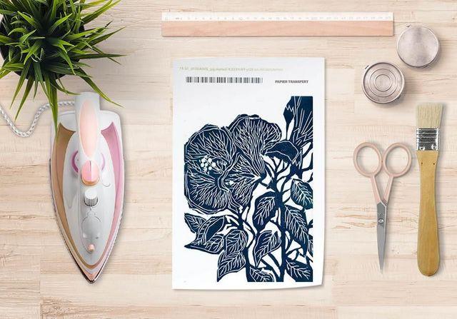 la Magie dans l'Image - Verlegung-la Magie dans l'Image-Papier transfert Hibiscus