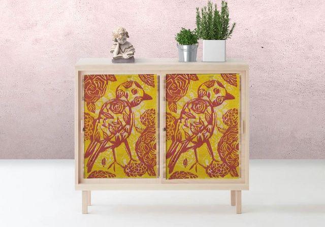 la Magie dans l'Image - Sticker-la Magie dans l'Image-Adhésif Oiseau Batik Jaune