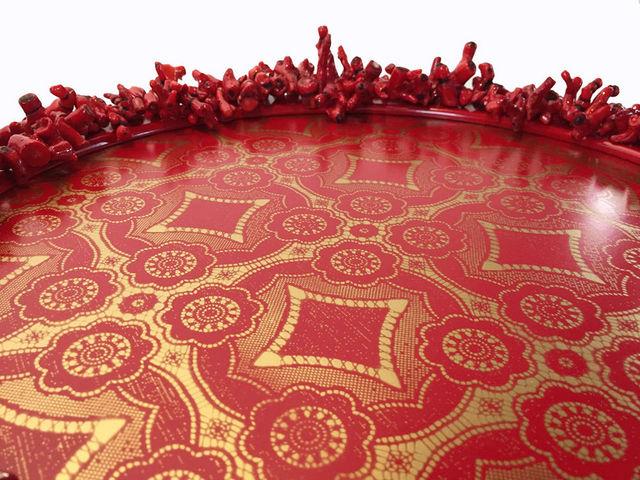 RELOADED DESIGN - Sockeltisch-RELOADED DESIGN-Mini Table Verso Sud Red Coral  - Small