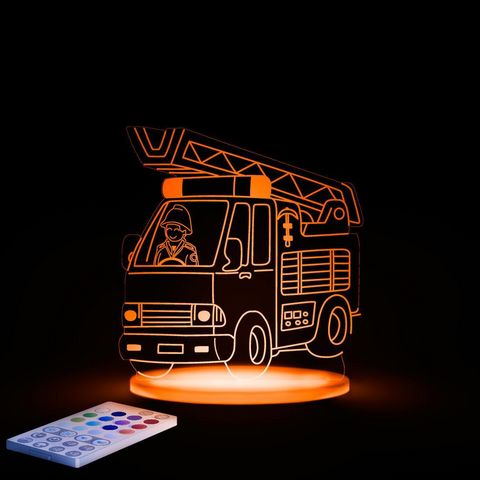 ALOKA SLEEPY LIGHTS - Kinder-Schlummerlampe-ALOKA SLEEPY LIGHTS-CAMION POMPIER